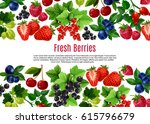 berry and fruit cartoon poster... | Shutterstock .eps vector #615796679