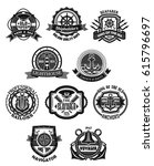 nautical emblem and marine... | Shutterstock .eps vector #615796697