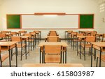 empty school classroom with... | Shutterstock . vector #615803987