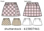 vector illustration of skirt... | Shutterstock .eps vector #615807461