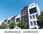 modern row houses seen in... | Shutterstock . vector #615810341