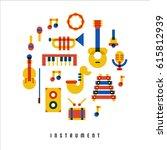instrument object cellophane... | Shutterstock .eps vector #615812939