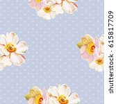 seamless pattern with white... | Shutterstock .eps vector #615817709
