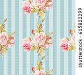 seamless floral pattern with... | Shutterstock .eps vector #615822299