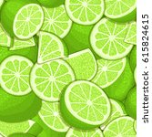 ripe juicy tropical lime... | Shutterstock .eps vector #615824615
