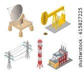 industrial objects set  ... | Shutterstock .eps vector #615827225