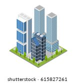 city landscape quarter and... | Shutterstock .eps vector #615827261