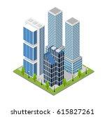 city landscape quarter and... | Shutterstock .eps vector #615827261