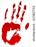 A Vector Bloody Hand Print On...