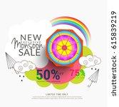 creative sale banner or sale... | Shutterstock .eps vector #615839219