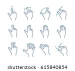 gesture touch icons for a... | Shutterstock .eps vector #615840854