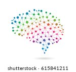 brain connections | Shutterstock .eps vector #615841211