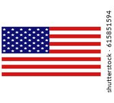 vector illustration of usa flag | Shutterstock .eps vector #615851594