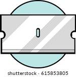 single edge razor blade | Shutterstock .eps vector #615853805
