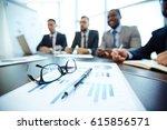 close up shot of business... | Shutterstock . vector #615856571