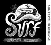 surf california beach hand...   Shutterstock .eps vector #615857891