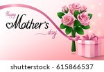 happy mothers day greeting... | Shutterstock .eps vector #615866537