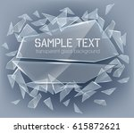 vector transparent broken glass ... | Shutterstock .eps vector #615872621