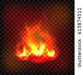 vector open fire  element for... | Shutterstock .eps vector #615874511