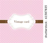 Pink And Brown Vintage Card ...