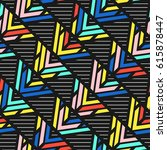 colorful bright seamless pattern | Shutterstock . vector #615878447