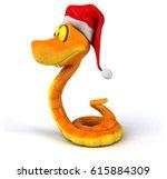 fun snake   3d illustration | Shutterstock . vector #615884309