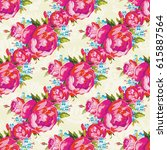 seamless floral pattern with... | Shutterstock .eps vector #615887564