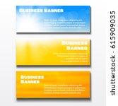 set of three horizontal... | Shutterstock .eps vector #615909035