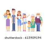 vector set of characters in a... | Shutterstock .eps vector #615909194