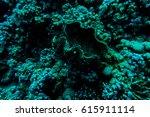 sea deep or ocean underwater... | Shutterstock . vector #615911114