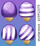 ice cream match 3 game pack | Shutterstock .eps vector #615912275