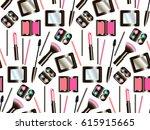 women's cosmetics set on a...   Shutterstock .eps vector #615915665