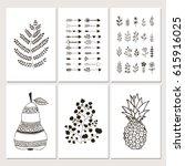 collection of scandinavian... | Shutterstock .eps vector #615916025