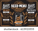 beer menu for restaurant and... | Shutterstock .eps vector #615923555