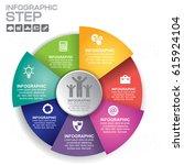 vector infographic. template... | Shutterstock .eps vector #615924104