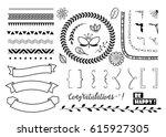big set of decorative elements  ... | Shutterstock .eps vector #615927305