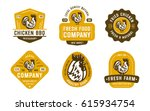 big set of quality vintage... | Shutterstock .eps vector #615934754