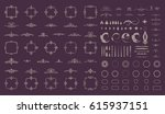 circle and square wicker... | Shutterstock .eps vector #615937151