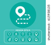pin icon vector flat design...
