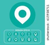 location icon vector flat... | Shutterstock .eps vector #615938711