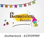 kiddish background  line art... | Shutterstock .eps vector #615939989