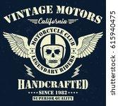 vintage motors  legendary... | Shutterstock .eps vector #615940475