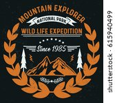mountain explorer  national... | Shutterstock .eps vector #615940499