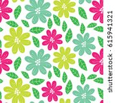 vector seamless pattern ... | Shutterstock .eps vector #615941321