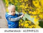 little two years old boy... | Shutterstock . vector #615949121
