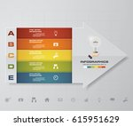 abstract 5 steps infographis... | Shutterstock .eps vector #615951629