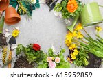 composition with flowers and...   Shutterstock . vector #615952859