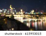 blurred city in evening light