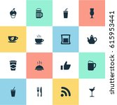 vector illustration set of... | Shutterstock .eps vector #615953441