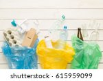 recycling and ecology. sorting  ... | Shutterstock . vector #615959099